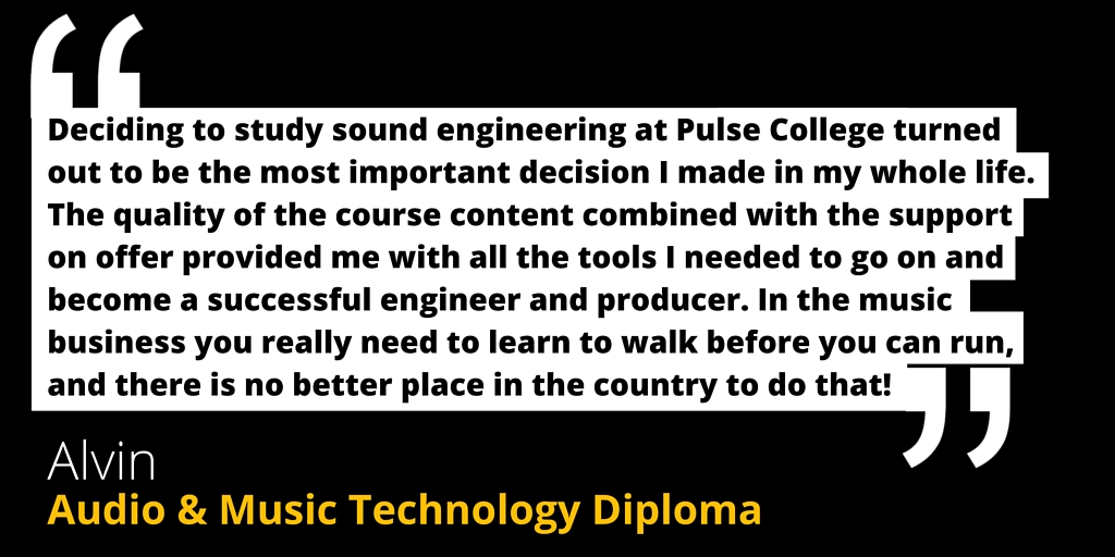 sound engineering music technology pulse college testimonial 2